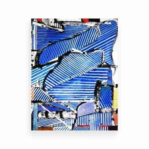 Blue White Stripes 1
