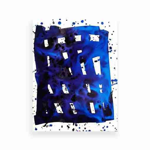 Blue Grid 3